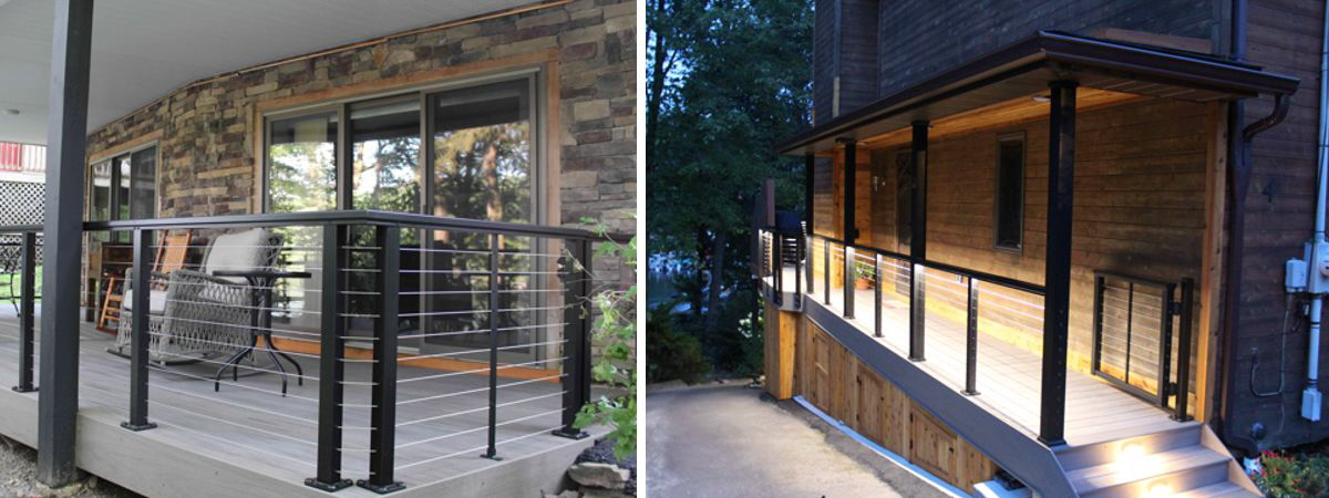 New deck railings including optional lighting.