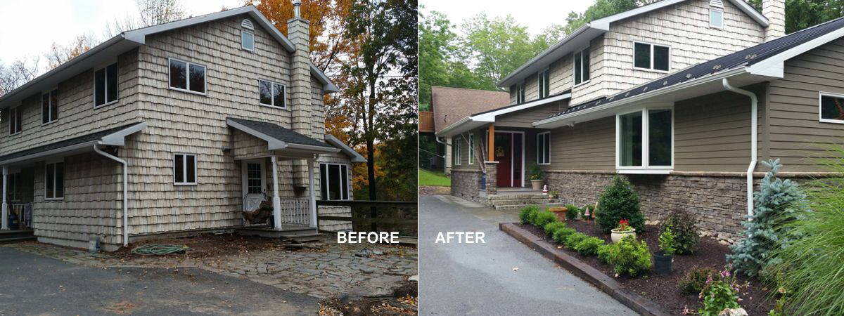 Exterior renovations may include a modest facelift or a completely new addition being added to the original structure.