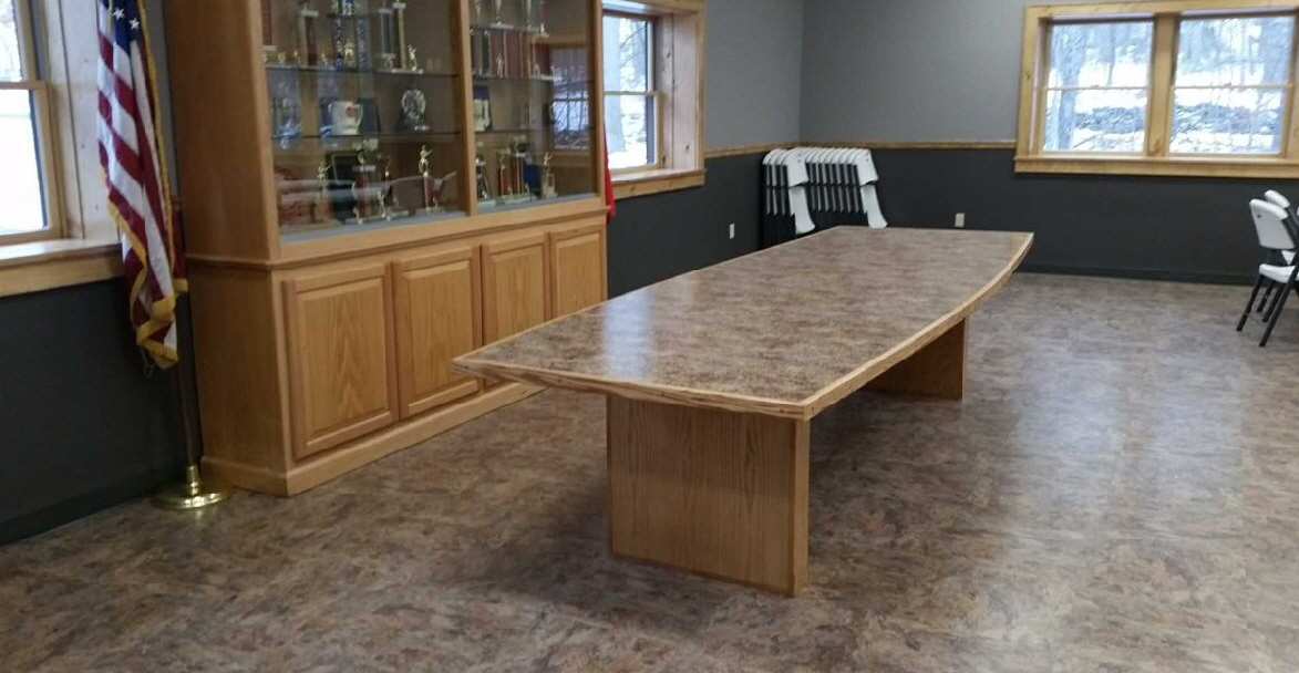 How about a custom crafted table for that conference room?